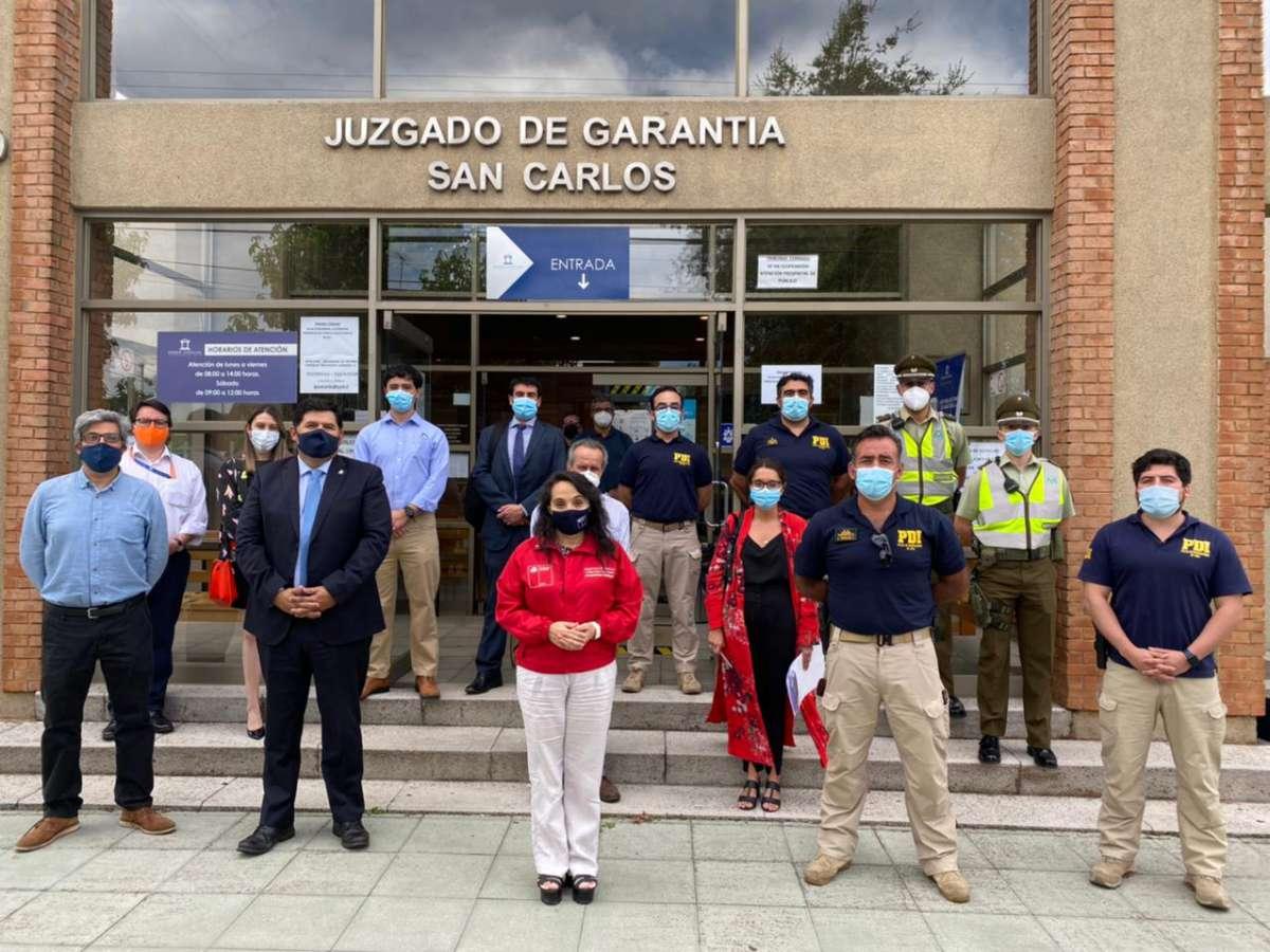 Seremi de Justicia visita salas especiales de los tribunales de garantía y fiscalía local ad portas de su implementación en Ñuble