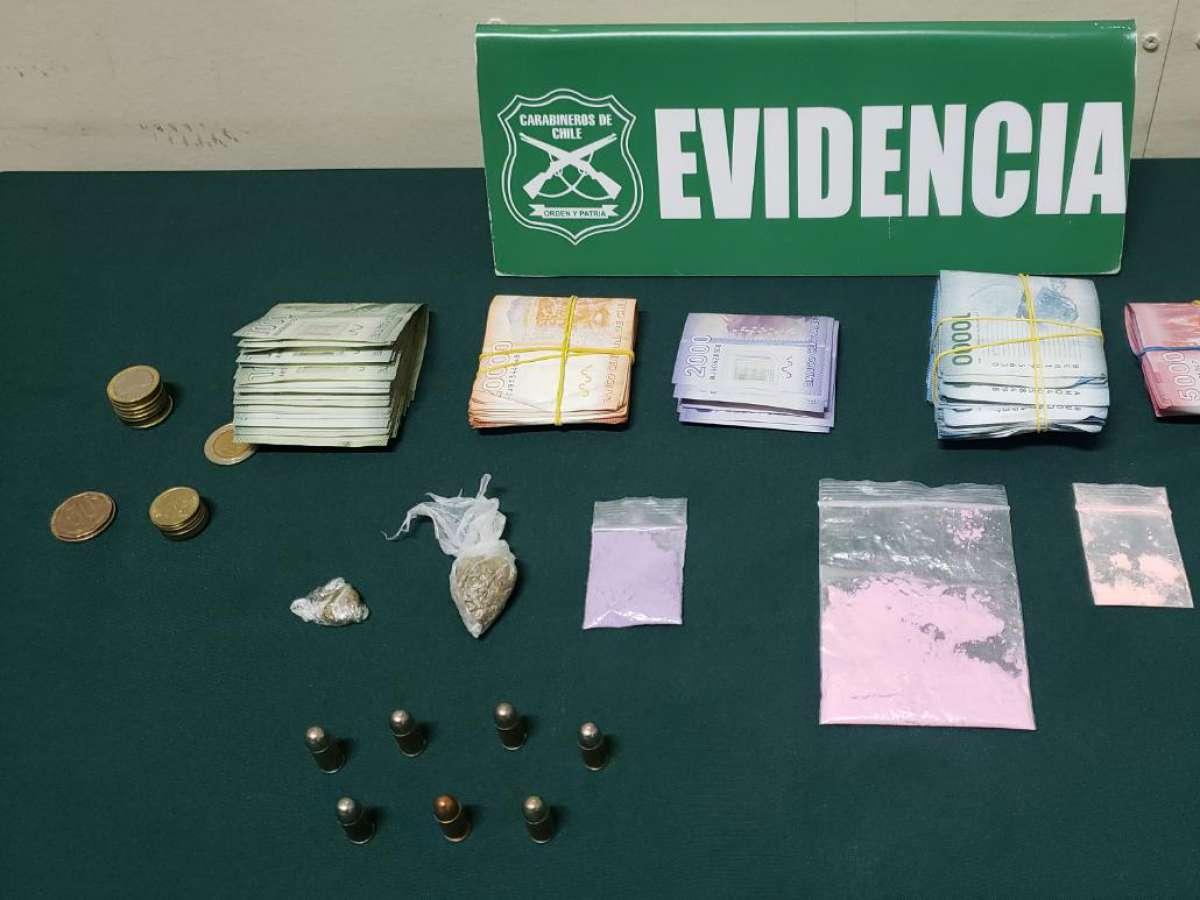 Carabineros detuvo en Pinto a cuatro sujetos que evadieron control policial para ocultar el traslado de droga