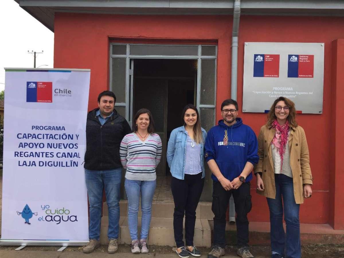CNR capacitará en manejo del riego y cultivos a nuevos usuarios del Canal Laja Diguillín