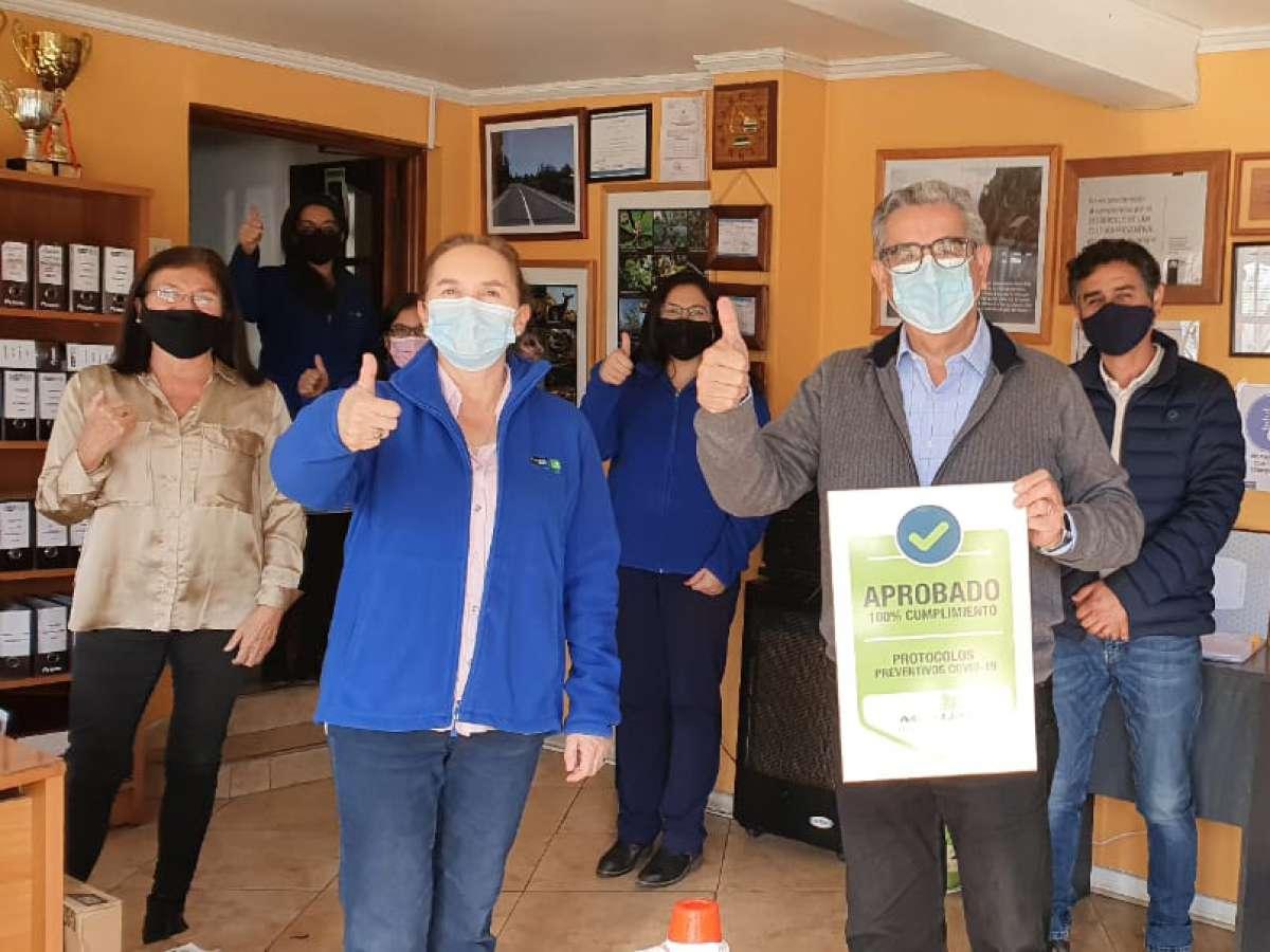 Empresas socias de la CChC Chillán recibieron Sello Mutual Covid-19