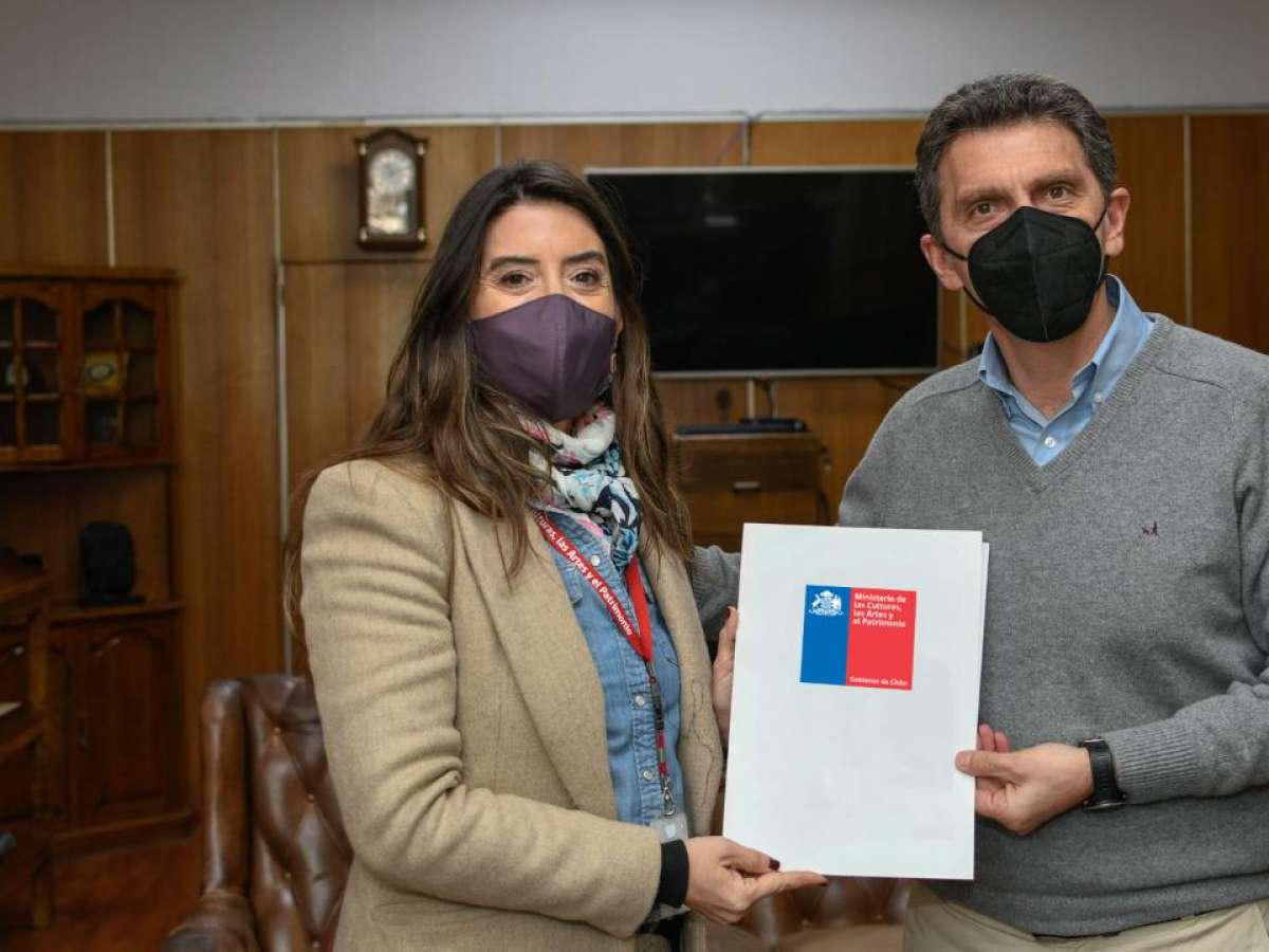 Seremi de las Culturas y nuevo alcalde de Chillán crearán mesa de trabajo para fortalecer desarrollo cultural de la capital regional.