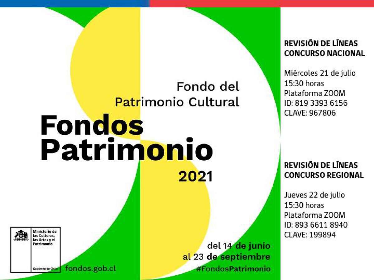 Realizarán charlas sobre el Fondo del Patrimonio 2021 en Ñuble