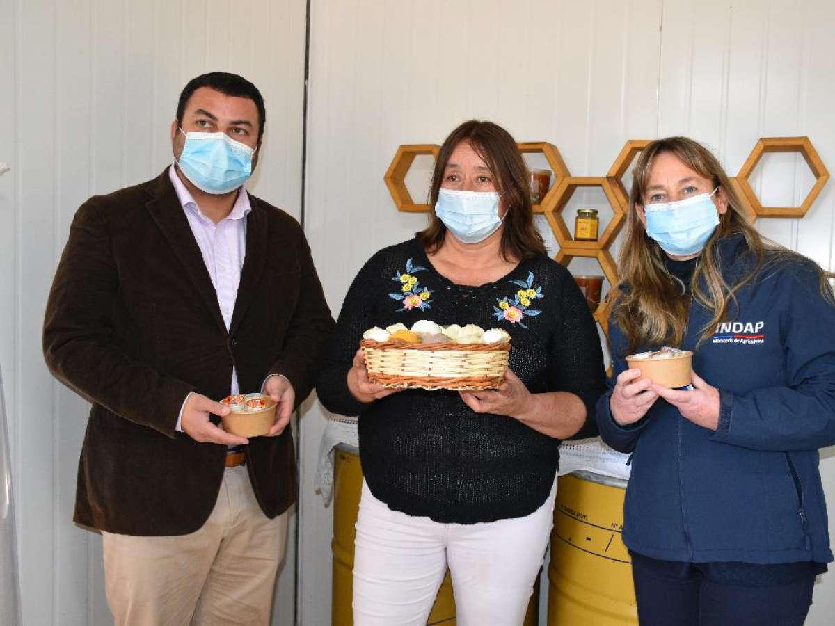 Pequeña apicultora de Bulnes crece gracias a proyectos de inversión INDAP