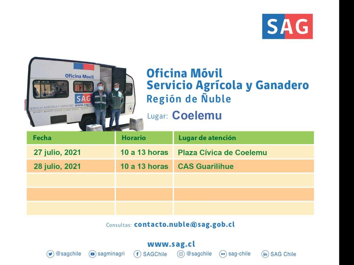 Oficina Móvil del SAG visita Coelemu y Guarilihue