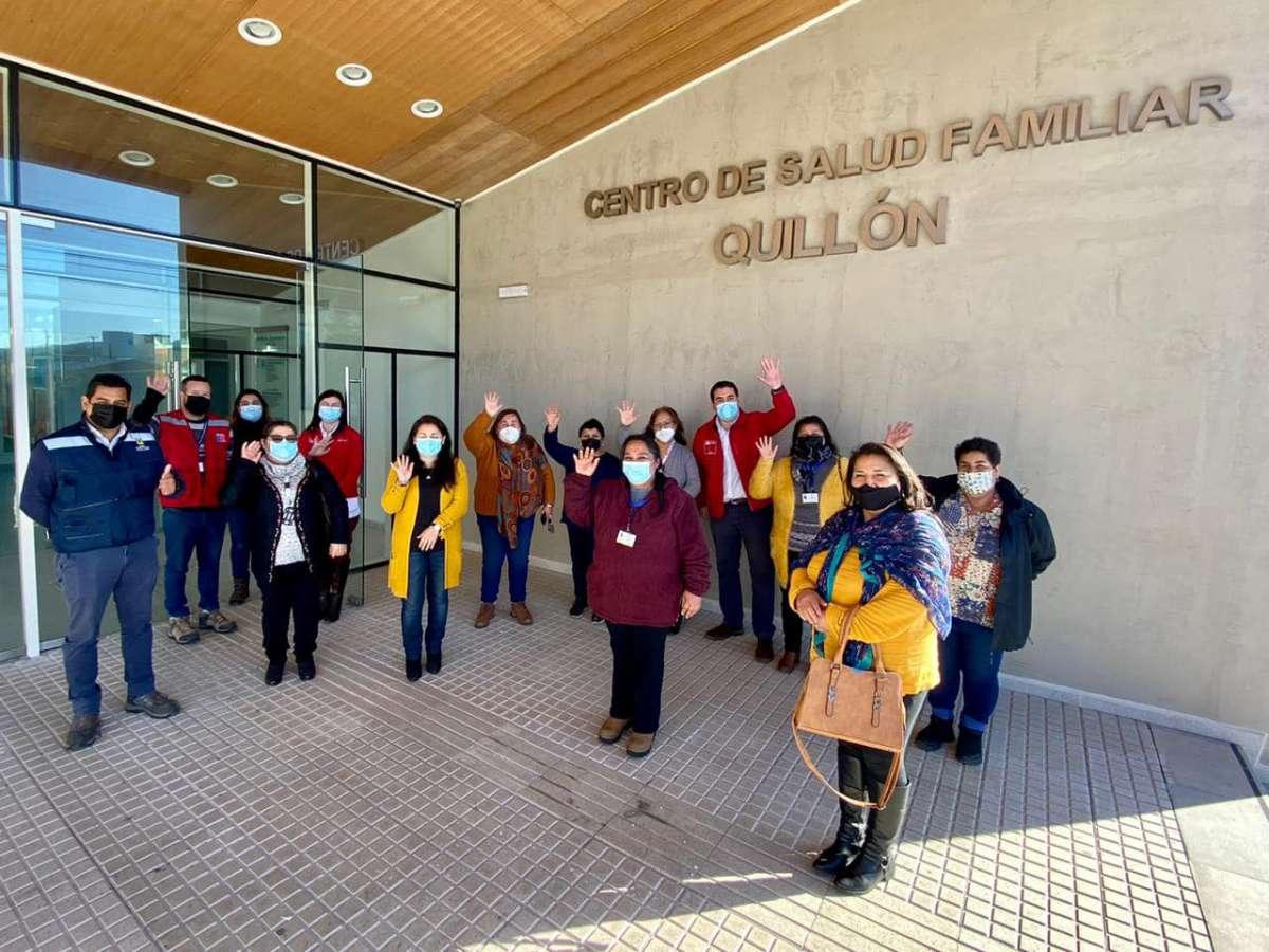 Delegado Jardua junto a vecinos visitan las obras del Cesfam de Quillón y Pueblo Seco