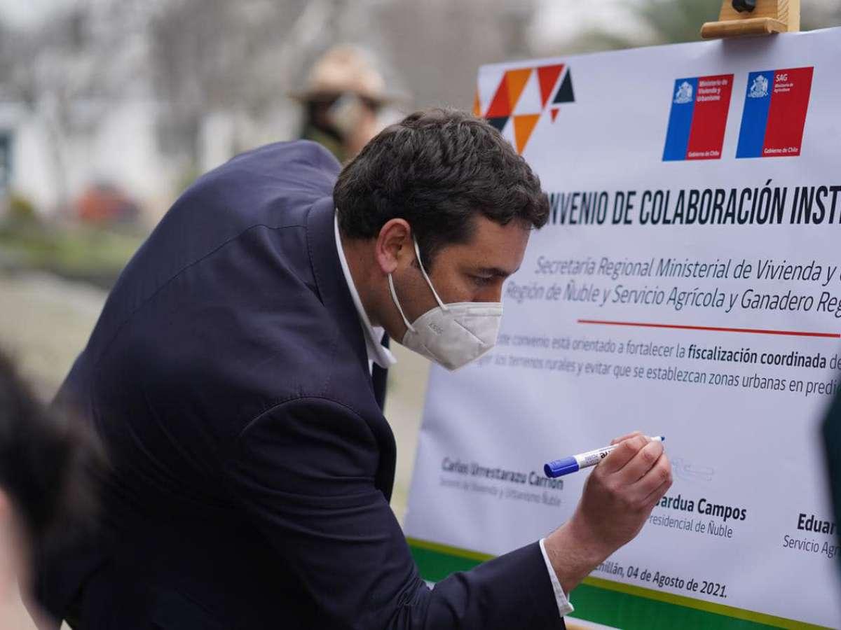 SAG y Seremi de Vivienda firman convenio para fortalecer fiscalización de loteos en zonas rurales de Ñuble