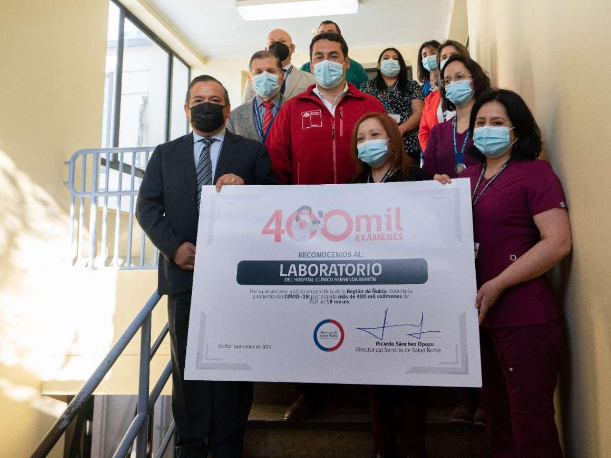 Más de 400 mil exámenes de PCR ha procesado el laboratorio del Hospital Clínico Herminda Martín