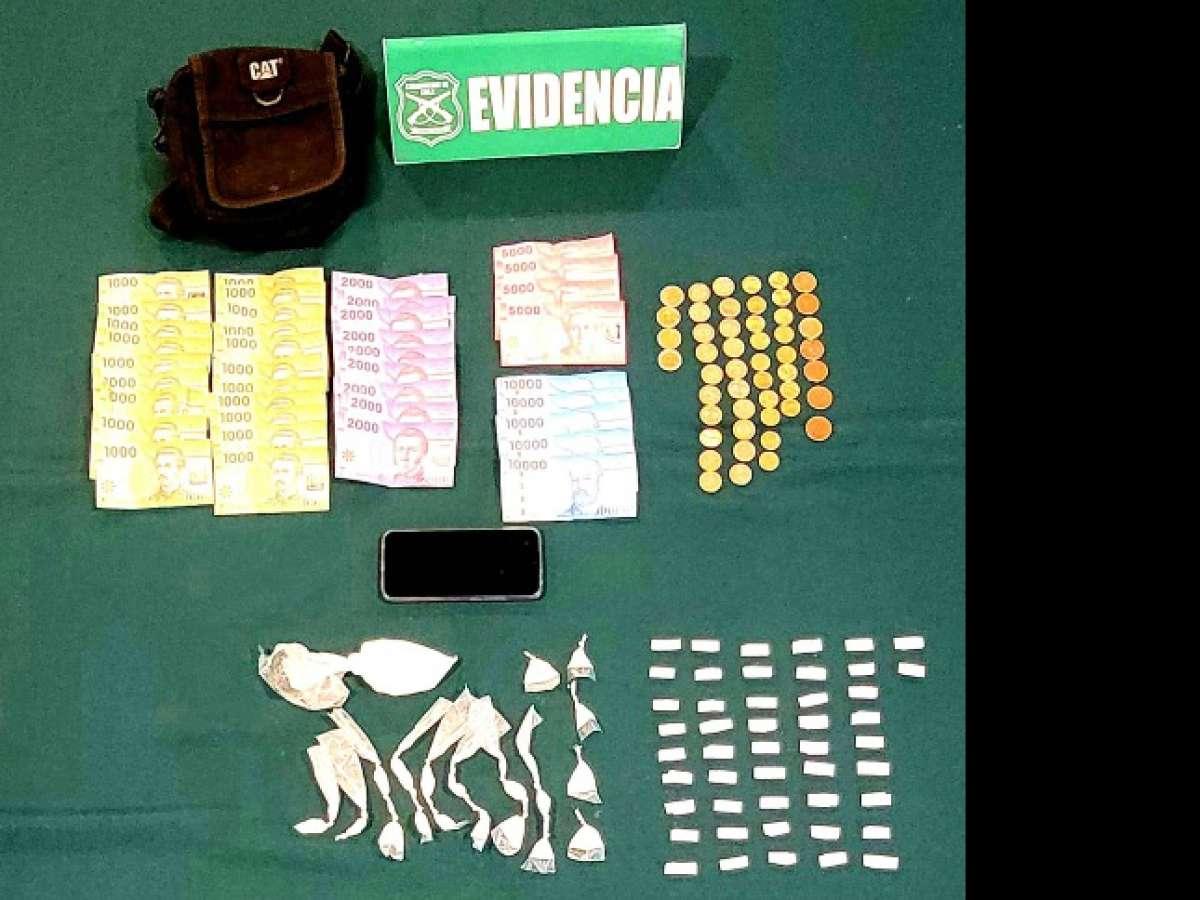 Carabineros detuvo en Chillán Viejo a menor que portaba pasta base y cocaína