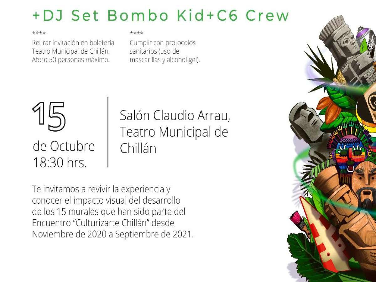 Este viernes 15 de octubre en el Teatro Municipal de Chillán se realiza el cierre del Proyecto Culturizarte Chillán 2020-2021