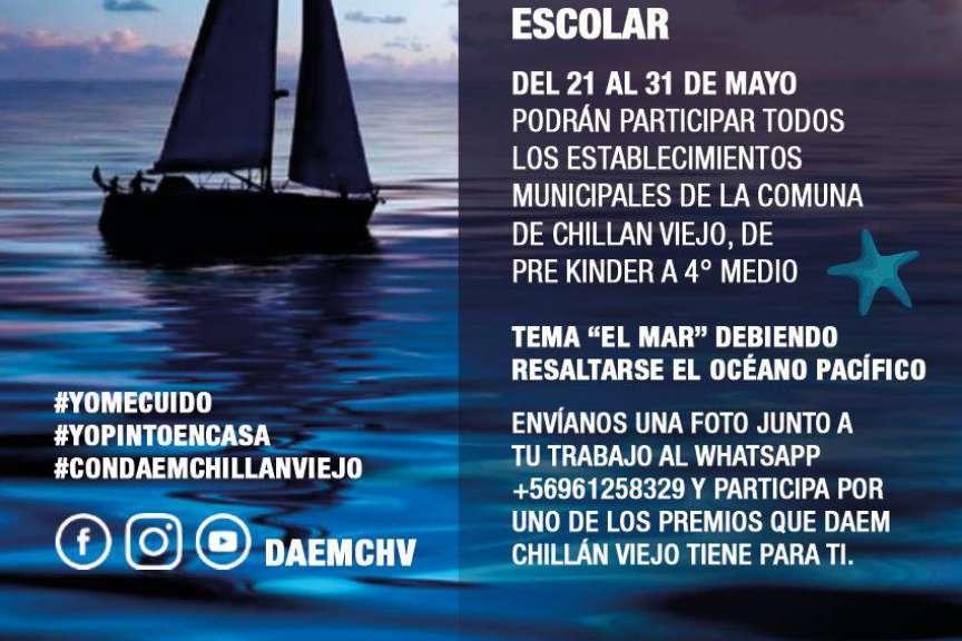 Daem Chillán Viejo invita a niños y jóvenes a pintar el mar