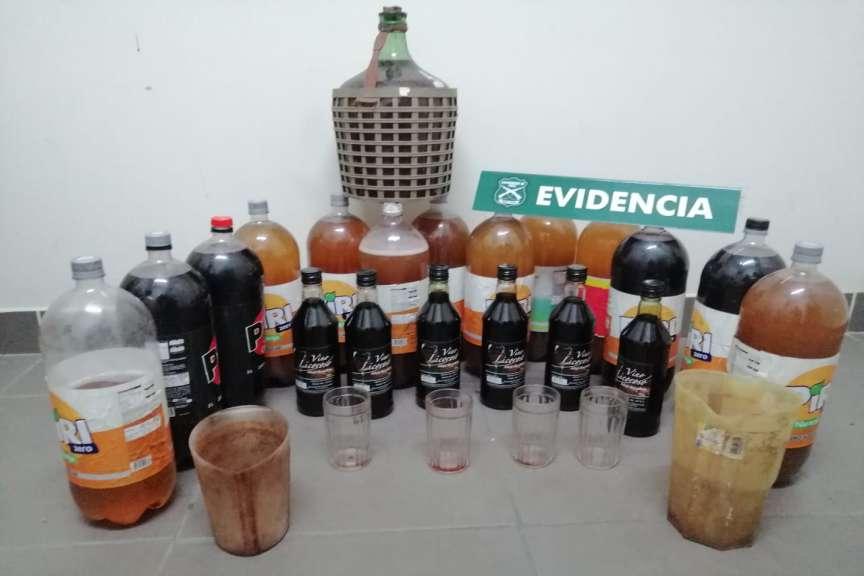 Carabineros incautó cerca de 280 litros de alcohol en locales clandestinos de Chillán