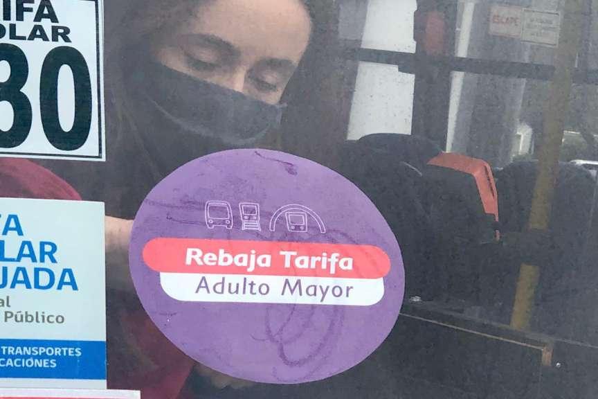 Comenzó a regir la Tarifa Adulto Mayor en el transporte público mayor