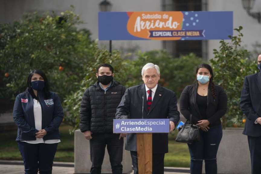 Presidente Piñera anuncia medidas para que más familias puedan acceder a subsidio de arriendo